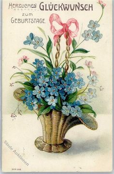 1906 Prägedruck Geburtstag Vergissmeinnicht: Ansichtskarten-Center Onlineshop