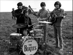 Inch Print (other products available) - The Beatles (left - right) John Lennon, Ringo Star, Paul McCartney and George Harrison on Salisbury Plain during the filming of & Picture: PA Photos - Image supplied by PA Images - Inch Photograph printed in the UK Paul Mccartney, Rolling Stones, Liverpool, Image Rock, The Beatles Help, Richard Starkey, A Hard Days Night, John Lennon Beatles, Sir Paul