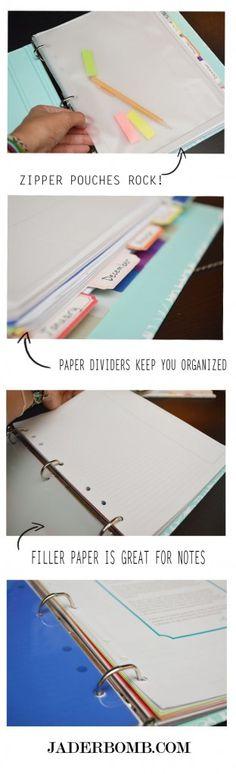 Binder accesories can help you organize for the new school year  #marthastewarthomeoffice #staples