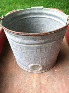 Vintage pail bucket by PrairieTreasure on Etsy, $22.00