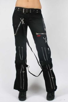 New Tripp Black And Red LaceUp Chain Pants  Hot Topic  Polyvore