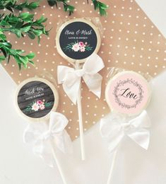 Items similar to Lollipop Favors Candy Wedding Favors Edible Wedding Favors Bridal Shower Favors 12 Wedding Favours Lollipops, Wedding Favor Labels, Edible Wedding Favors, Wedding Shower Favors, Wedding Favors Cheap, Candy Favors, Wedding Candy, Wedding Ideas, Wedding Reception
