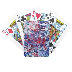 Patriotic Fireworks Playing Cards Bicycle Card Deck