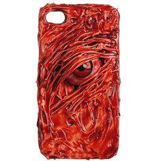 Hallowmas Handmade Bloody One Eye Grain Protector Case For iPhone 4