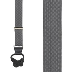 Jacquard Checkered Suspenders - Button
