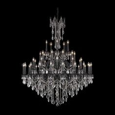 "Rosalia 54"" Crystal Foyer Pendant Chandelier with 45 Lights"