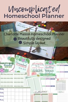 Printable planner inspired by Charlotte Mason. This planner is simply created for the homeschooler who needs pages to track field trips, nature study, instruction days, goals and so much more. Print at home Track Field, Charlotte Mason, Nature Study, Field Trips, Printable Planner, Homeschooling, Encouragement, Goals, Inspired