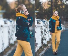 Get this look: http://lb.nu/look/8617035 More looks by Olga Choi: http://lb.nu/choiolga Items in this look: Romwe Velvet Bomber, Choies Scarf, Versace Collection Pants #casual #elegant #street