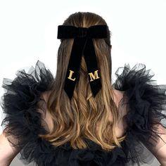 Velvet hair bow Hair Inspo, Hair Inspiration, Black Hair Bows, Velvet Hair, Online Checks, Luxury Hair, Hair Styles, Hairbows, How To Wear