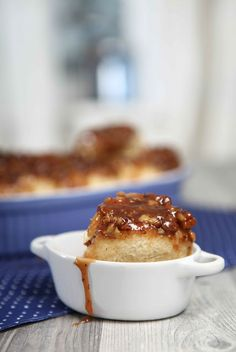 upside down with caramel pecans