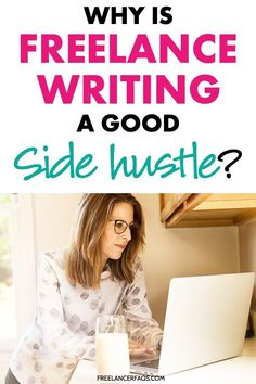 Why is Freelance Writing A Great Side Hustle? Learn if freelance writing and working from home is the best side hustle for you! Online Writing Jobs, Freelance Writing Jobs, Online Jobs, Freelance Online, Academic Writing, Creative Jobs, Creative Writing, Writing Ideas, Writing Advice