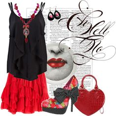 Sassy Red Set, created by charlotte-bilton-carver on Polyvore