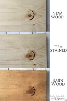 Steps to age new wood to look like old barn wood | Country Design Style | countrydesignstyle.com