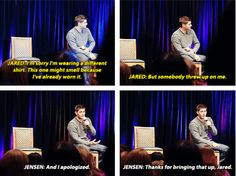 [SET OF GIFS] Jensen & Jared convention panel #ChiCon2012