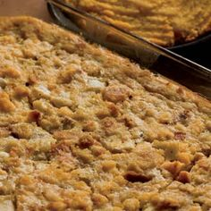 A member shares his prize-winning recipe for classic country cornbread dressing, perfect for Thanksgiving dinner. Thanksgiving Recipes, Holiday Recipes, Great Recipes, Favorite Recipes, Thanksgiving Sides, Party Recipes, Stuffing Casserole, Stuffing Recipes, Cornbread Stuffing