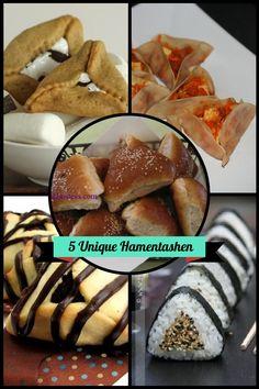 5 Creative Hamentashen for Purim - mazelmoments.com #Jewish #Recipes
