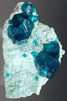 Dioptase on Calcite Tsumeb, Namibia ex. Erik Louw Collection Miniature, x 3 x 2 cm Minerals And Gemstones, Rocks And Minerals, Natural Crystals, Stones And Crystals, Gem Stones, Gemstone List, Rock Collection, Beautiful Rocks, Mineral Stone