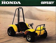 Honda Odyssey, how is this for old school. I still see these in Glamis, hard ride with Zero suspension but it is a Honda so it keeps on a running. Photo Courtesy of Vintage Factory ATC Racer