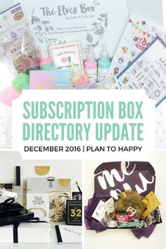 This month's update to the Subscription Box Directory includes a subscription box for cats, for planners, and for fans of Japanese snacks, among others.