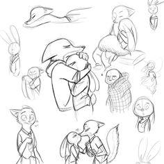 Zootopia Sketches - Unknown Artist