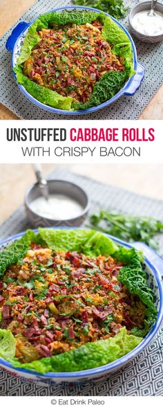 Unstuffed Cabbage Rolls With Crispy Bacon - gluten free, nut free, paleo, primal, low carb, clean eating recipe.