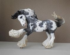 MH$P | CM BREYER GYPSY VANNER TO A ROAN PAINT