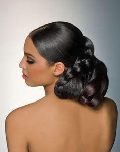 coiffure de mariée chignon bas