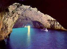 Isle of Capri - the famous grottos, very romantic