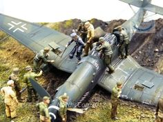 Steve Hustad's potrayal of the dramatic surrender of German ace Hans-Ulrich Rudel in his Stuka.