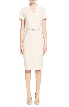 Max Mara 'Curvato' Dopio Crepe Dress available at #Nordstrom