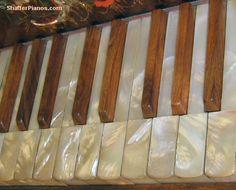 Mother of Pearl Piano Keys - Antique Square Grand Pianos Rebuilt and Restored - Steinway, Bosendorfer, Chickering, Knabe, Mason & Hamlin Grand Pianos, Upright Pianos, Square Pianos for sale