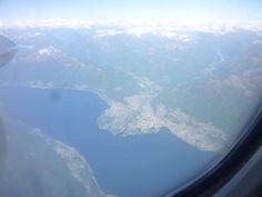 """Lago Maggiore, Adcona e Locarno,  """"Swissair"""" Lugano→Zurich"""