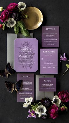 Our Marsala Blooms Wedding Invitations are a perfectly gorgeous way to announce the special day. Gothic Wedding Invitations, Halloween Wedding Invitations, Elegant Invitations, Elegant Wedding Invitations, Wedding Stationary, Invitation Suite, Invite, Wedding Trends, Fall Wedding