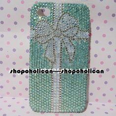 Custom  2D Tiffany bow Gift Box Swarovski IPhone by Blythaholic, $89.00
