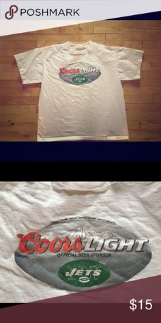 NY JETS & Coors Light T-Shirt 🏈🍺 NY Jets & Coors Light T-shirt, worn a couple times and graphic shows no signs of wear. Shirts Tees - Short Sleeve
