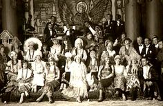 Paul and Gisèle Tissier's Soirée d'Art. . Theme here was Russia.1924. Boudoir dolls offered to the guests were 1m 20 high and more.