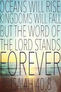The Word of the Lord Stands Forever