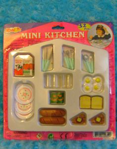 Mini Kitchen Set by Kids Biz - This looks exactly like the Tyco Kitchen Littles sets.