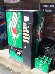 Small 7Up Vending Machine by The Upstairs Room, via Flickr
