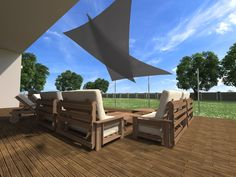 Polyester oder HDPE zur Auswahl Outdoor Chairs, Outdoor Furniture, Outdoor Decor, Home Decor, Sun Sails, Solar Shades, Decoration Home, Room Decor, Garden Chairs
