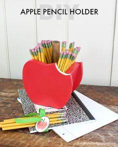 DIY Apple Pencil Holder - Teacher Appreciation Gift