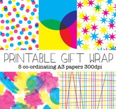 I've created five fun Printable Gift Wrapping Paper designs that will brighten up your Christmas crafts this season.