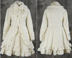 M-61 S/M/L/XL/XXL Creme weiß white Gothic Lolita Jacke Damen Coat Cosplay | eBay