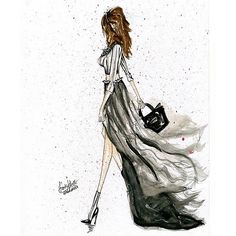 """The walking girls"" No.1 #piano #art #art_fashion #artwork #trendyfashionillustrations #illustration #fashion #fashionillustration #drawing #dress #style | Flickr - Photo Sharing!"
