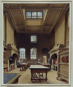 Watercolor of the kitchen at Chatsworth House, Derbyshire, from 1823. It was described in 1844 as being only fuled by wood, reducing the amount of black to contend with.
