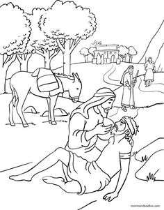 printable coloring page for parable of the good samaritan parables and teachings of jesus