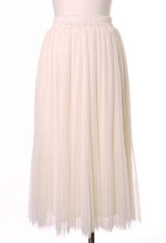 #Chicwish Tulle Tours Skirt in Ivory