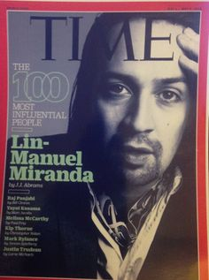 "This photo is of Mr. Miranda on the cover of Time Magazine. Photo is 5x7"" Framed & Signed (photo shown is not signed)."