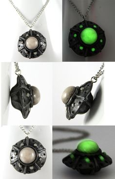 UFO Necklace by *NeverlandJewelry on deviantART