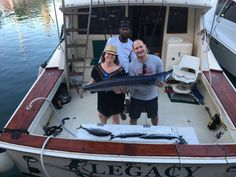 Happy couple with the catch of the day while fishing on Legacy Barbados. Happy Fishing, Fishing Charters, Barbados, Couples, Couple, Romantic Couples